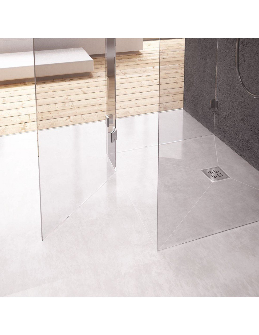 wet room kit shower tray walk in shower tray former linear. Black Bedroom Furniture Sets. Home Design Ideas