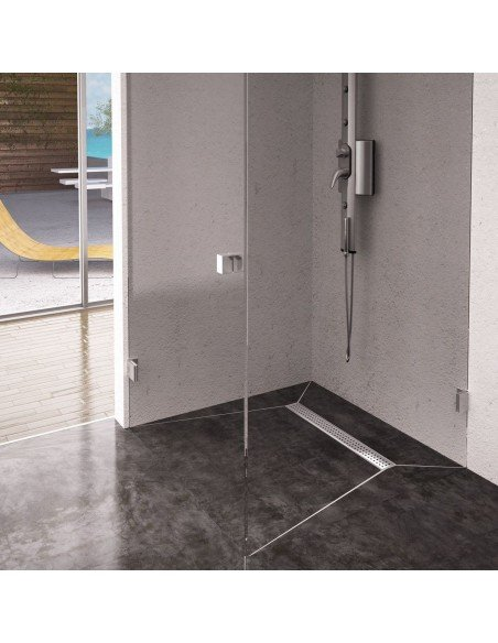 Linear drain Wiper 500 mm Premium Slim Sirocco