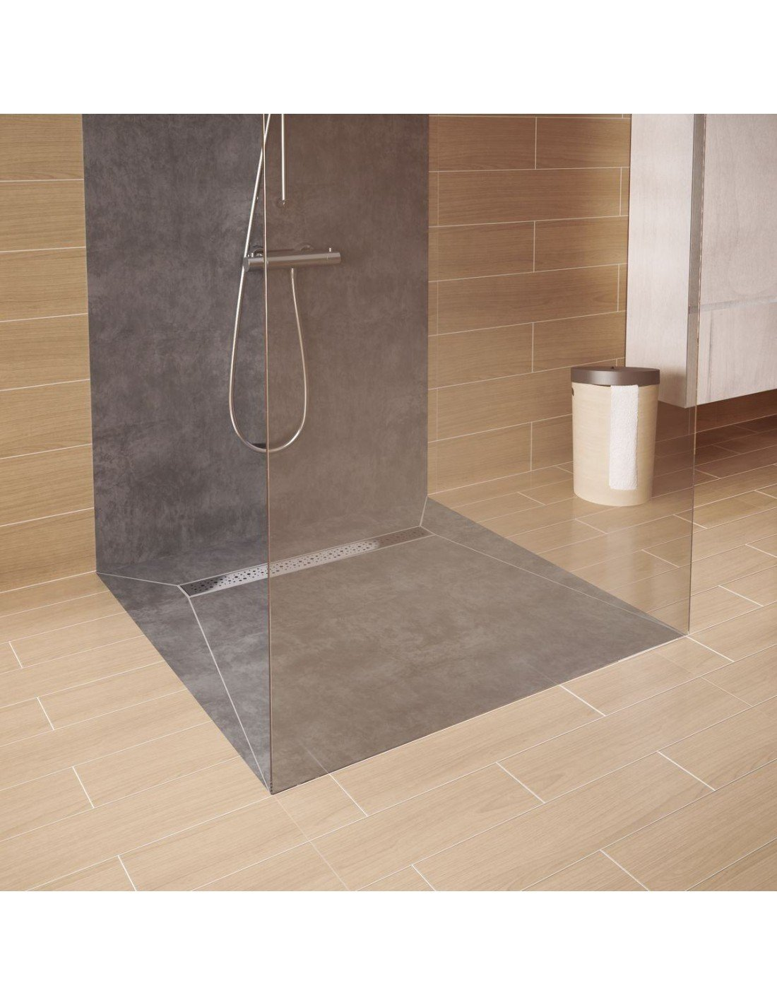 Tileable Linear Drain With Collar 800 Mm Elite Pure