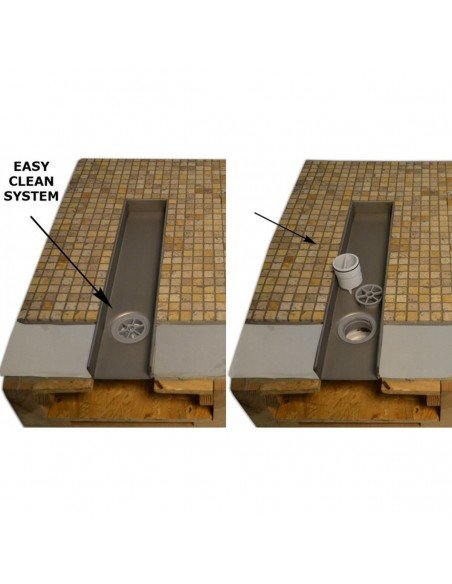 Linear drain Wiper 800 mm Classic Sirocco