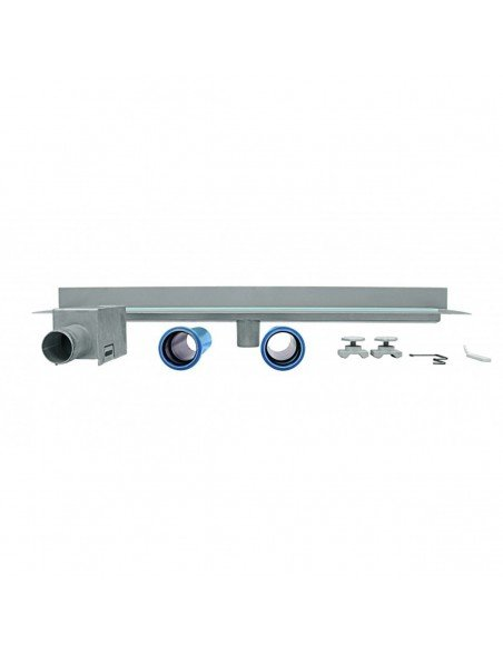 Linear drain Wedi 800 mm Riolita Optima Blue Glass