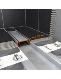 Linear drain Easy Drain 800 mm Modulo TAF Zero-tile