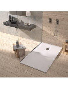 Shower Tray Duplach 800 x 1500 mm Stone Plus White