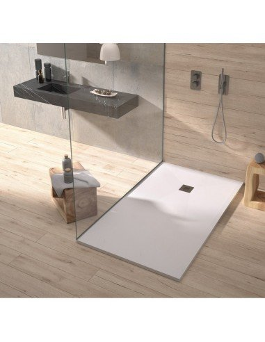 Shower Tray Duplach 900 x 900 mm Stone Plus White