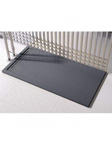 Shower Tray Duplach 1000 x 1000 mm Stone Cach Black