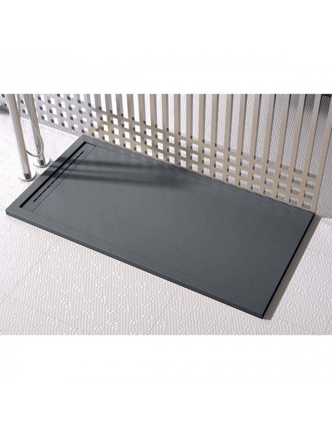 Shower Tray Duplach 1200 x 1200 mm Stone Cach Black | Wet Rooms Design
