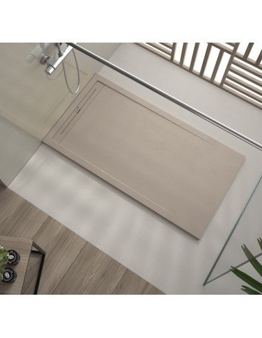 Shower Tray Duplach 800 x 1500 mm Stone Cach Sand