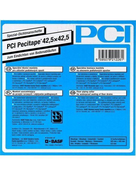Waterproofing membrane PCI Pecitape 120® 42.5 x 42.5 mm