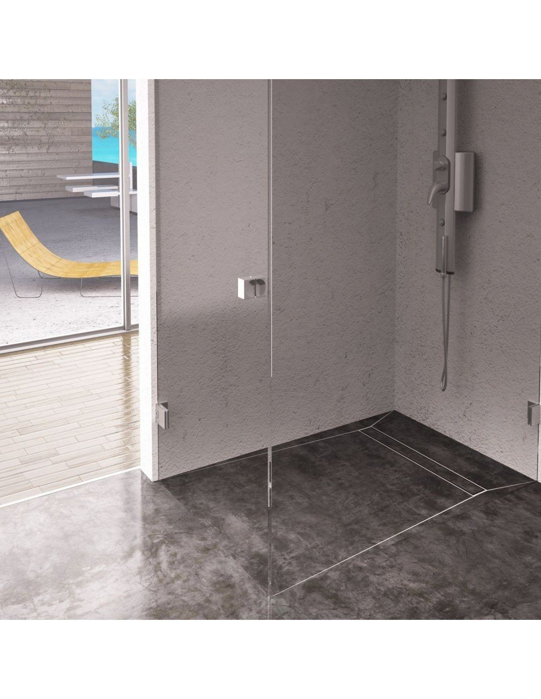 Wet Room Kit Showerlay Wiper 800 X 1200 Mm Line Ponente