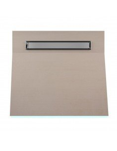 OneWay Fall Showerlay Wiper 800 x 800 mm Line Invisible