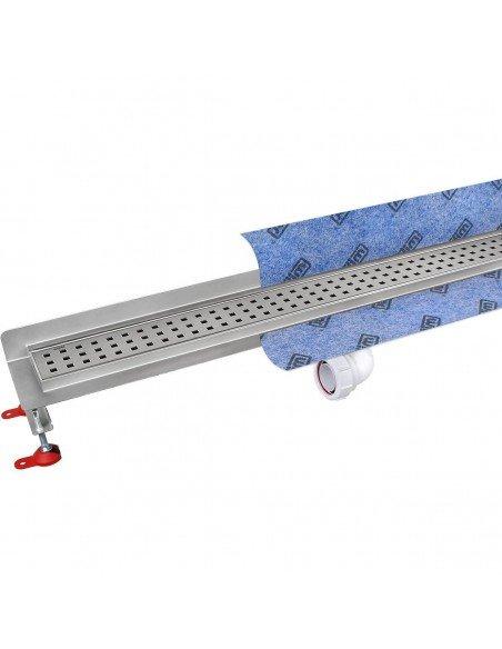 Linear drain Wiper 800 mm Wall Upstand Sirocco