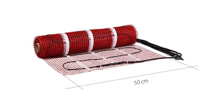 heating mat size