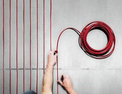 Underfloor heating cables | Wet Rooms Design