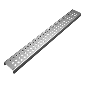 Square patterned linear drain cover