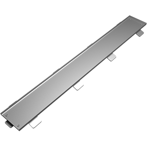 Tileble linear drain cover