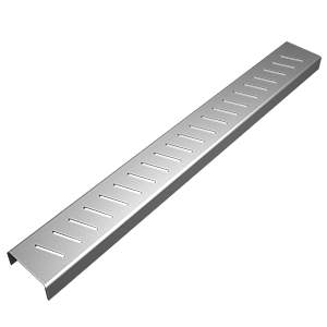 Stripe patterned linear drain cover