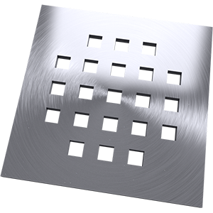 Square patterned square drain cover
