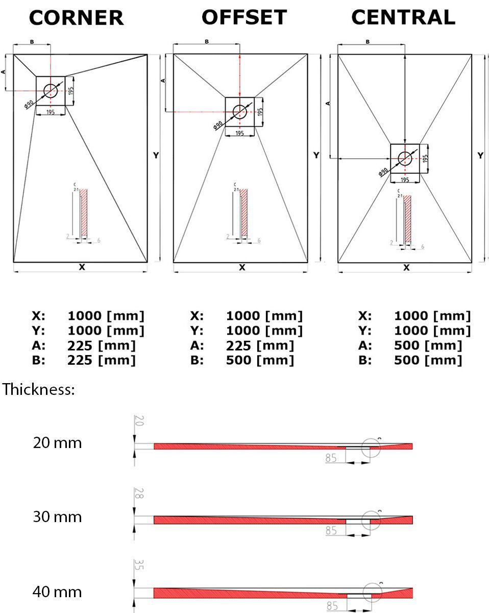 Technical Drawing Showerlay Point Wetrooms Design